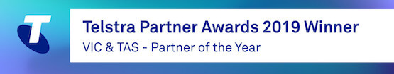 Telstra Partner Awards 2019 WINNER - VIC & TAS Partner of the Year